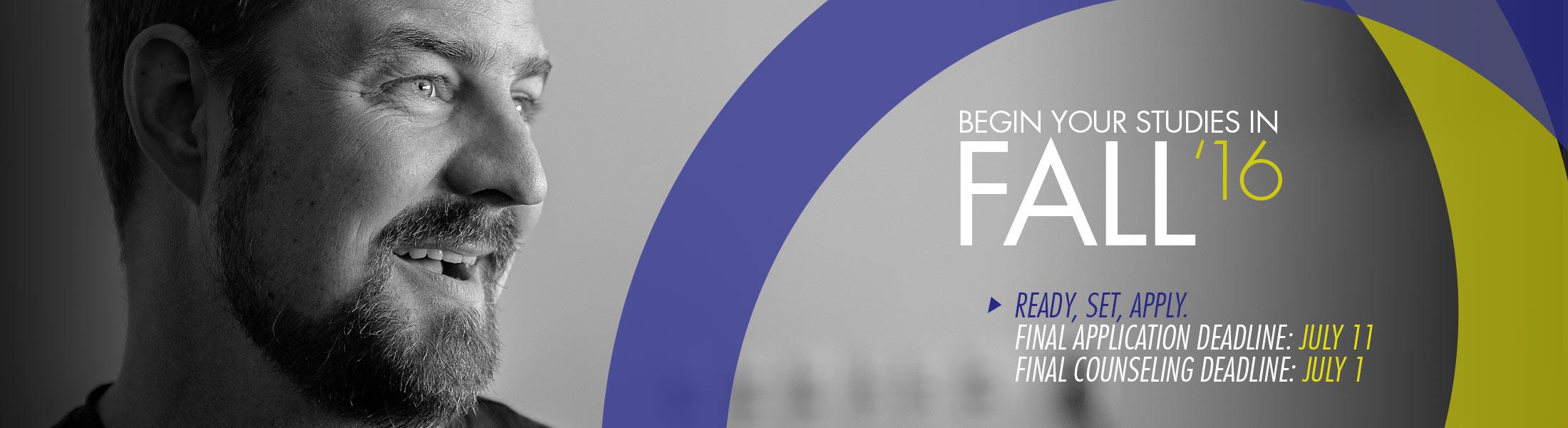 Fall 2016 Final Application Deadline