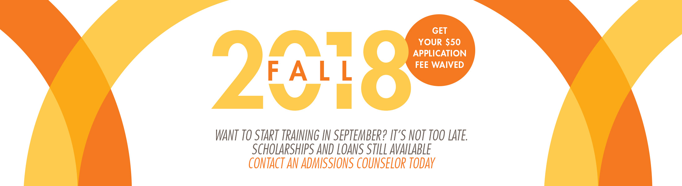 Apply for admission to the Fall 2018 semester