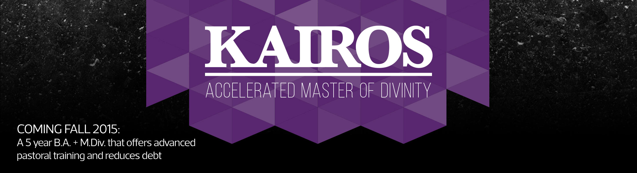 Announcing the Kairos Accelerated Master of Divinity