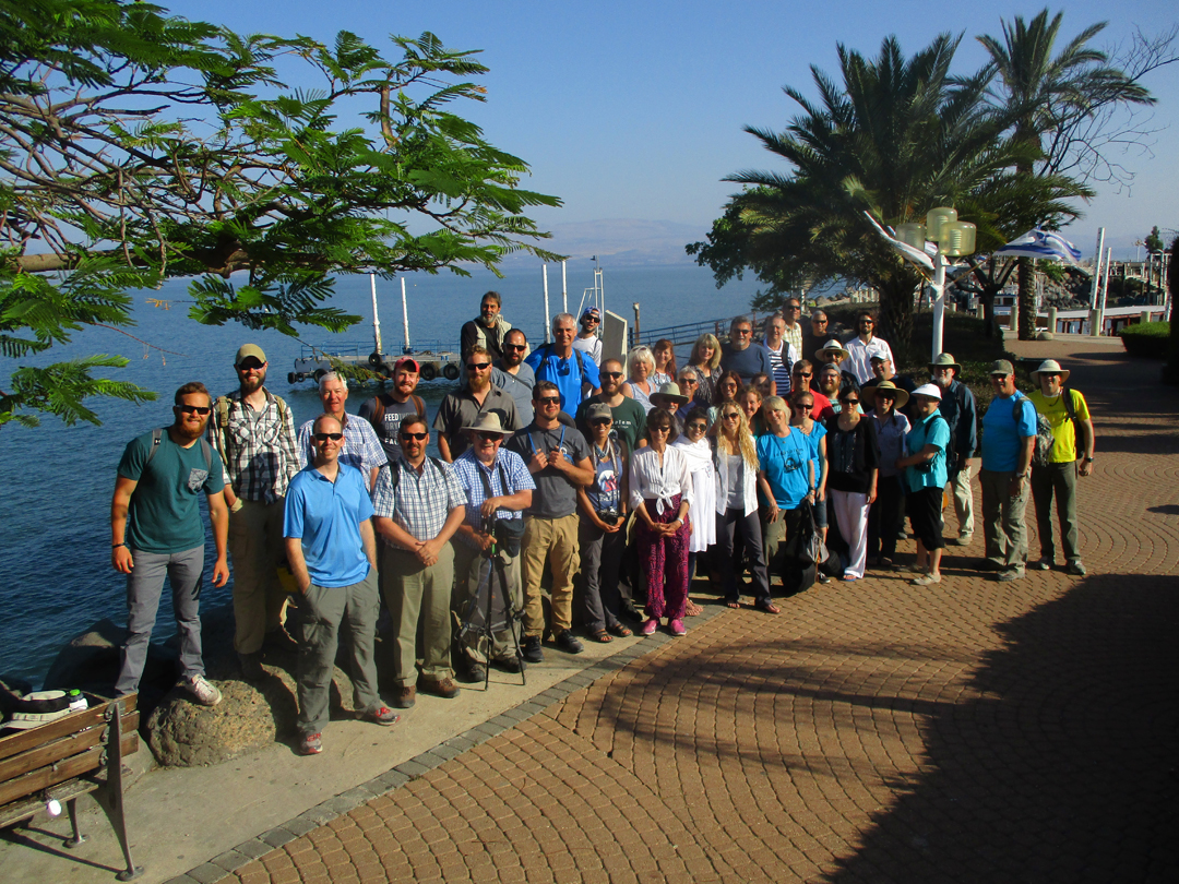 web Students at the Sea of Galilee