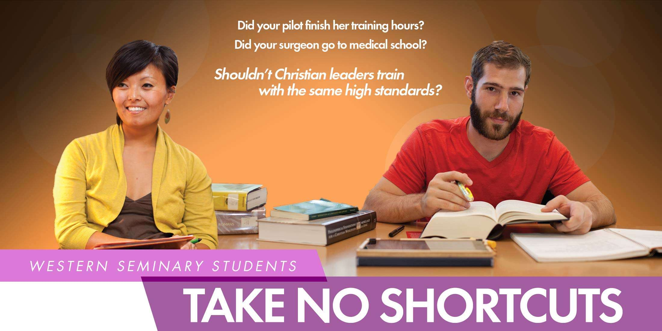 Western Seminary Students Take No Shortcuts